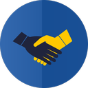 handshake, hands, partnership icon