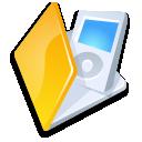 folder ipod yellow icon