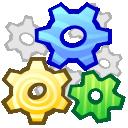 wheel, gear, system icon