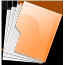 orange, folder icon