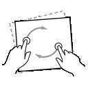gestureworks, rotate, media icon