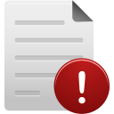 File, Warning icon