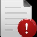 warning, file icon