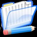 documentos,azul icon