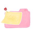 folder, note, ak, candy icon