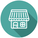 eshop, shop, store, cafe, bakery, market icon