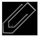 paperclip, black, attachment icon