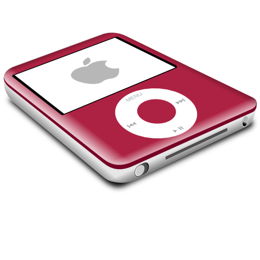ipod, red, nano icon