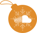 christmas, ball, sound, cloud icon