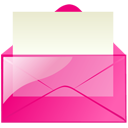 envelop, message, email, pink, letter, mail icon