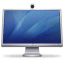 cinema, isight, blue, display icon