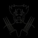 x-man, avatar, marvel hero, wolverine icon