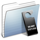 not, folder, graphite, do, disturb, stripped icon