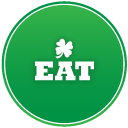 st patricks day eat icon