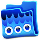 Blue, Creature, Folder icon