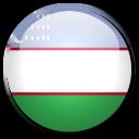 uzbekistan, flag, country icon