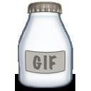 type, fyle, gif icon
