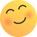 emoji, joy, emot, love, blush, happy, reaction icon
