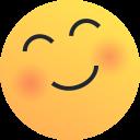 emoji, joy, emot, love, blush, happy, reaction icon