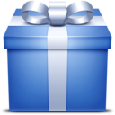 blue,gift,box icon