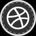 social, online, media, dribbble icon