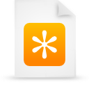 file, paper, orange, document icon