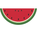 watermelon, berry icon