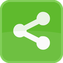 square, connection, share, green, communication, network icon