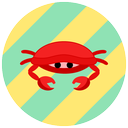 animals, sea, summer, crab, ocean icon