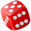 3d, gambling, poker, lucky, risk, chance, game, casino, cube, dice, gamble icon