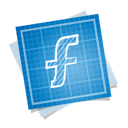 blueprint, social, f icon