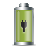 battery, plugged in icon