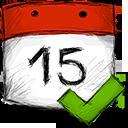 date, accept icon