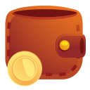 cash, coin, money, wallet, currency icon