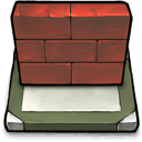 wall, brick, desktop icon