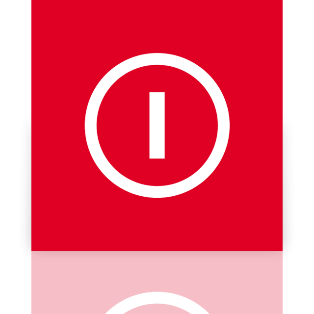 power, mirror, down, shut icon
