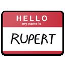 rupert, my name is eda, hello, name icon