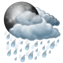 rain, night icon