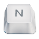 letter uppercase N icon