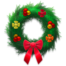 holiday, festive, wreath icon