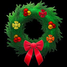 holiday, festive, wreath icon