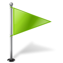 Map Marker Flag 1 Right Chartreuse icon