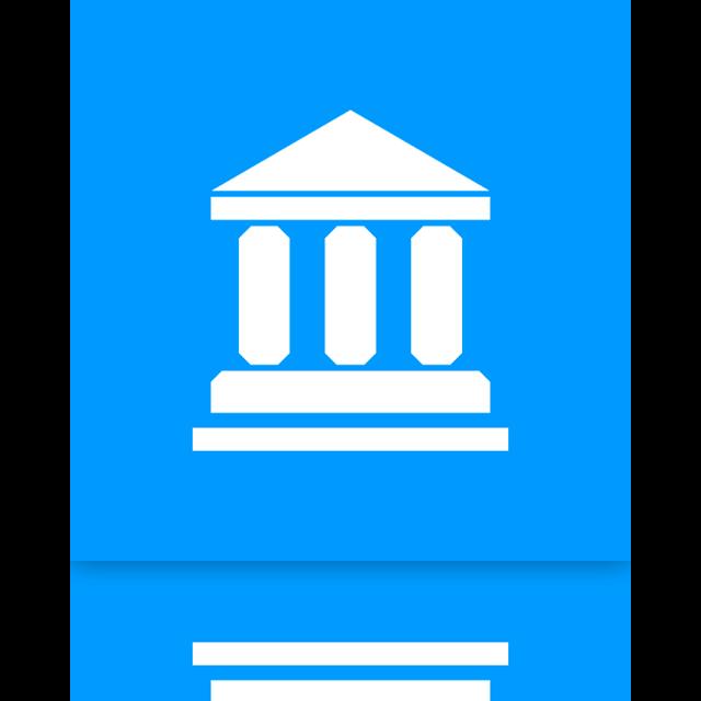 library, mirror icon