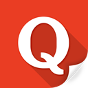 media, web, quora, logo, modern, sound icon