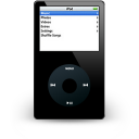 noir, ipod icon