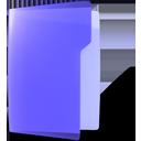 violet, open, folder icon