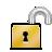 open, lock icon