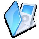 Folder ipod blue icon