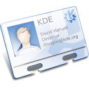 kaddressbook, profile, kde, vcard, contact, business card icon