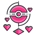virtual, reality, pokemon, go, love, game, play icon